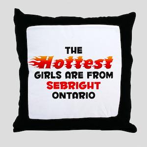 Hot Girls: Sebright, ON Throw Pillow