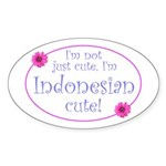 Indonesian Cute Oval Sticker