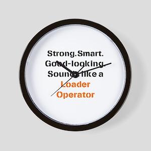 loader operator sound Wall Clock