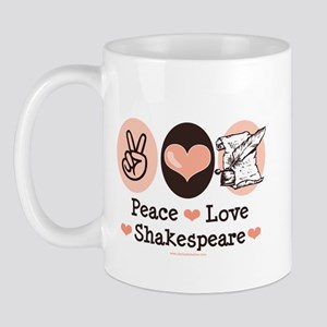 Peace Love Shakespeare Mug