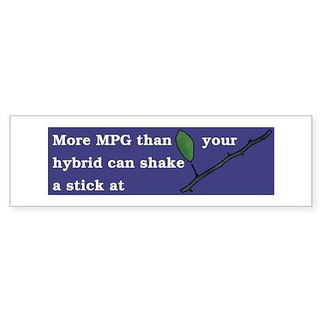 More MPG than your hybrid diesel bumper sticker