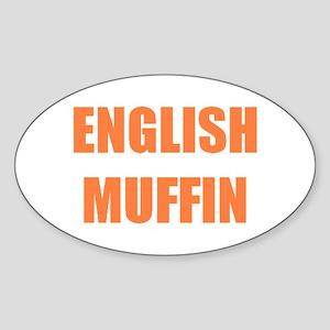 English Muffin Oval Sticker