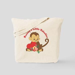 Mommy's Valentine Monkey Tote Bag