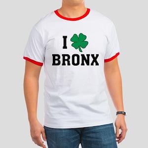 I Shamrock Love Bronx Ringer T