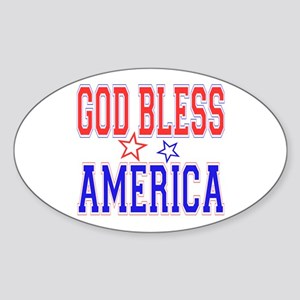 God Bless America Oval Sticker