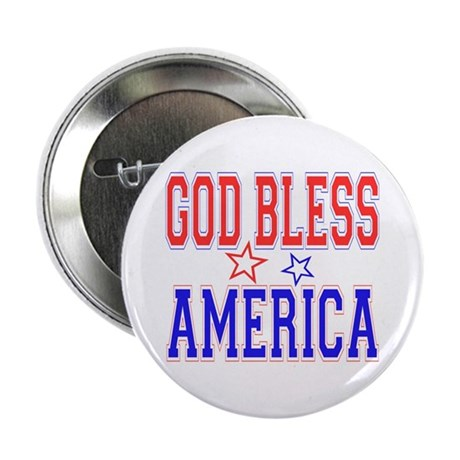 """God Bless America 2.25"""" Button (10 pack)"""