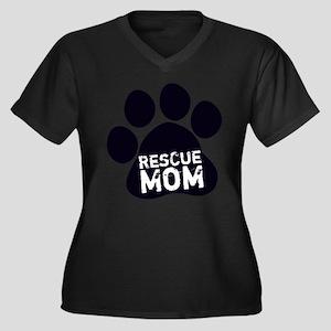 Rescue Mom Plus Size T-Shirt