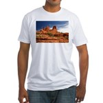 Vortex Side of Bell Rock Fitted T-Shirt