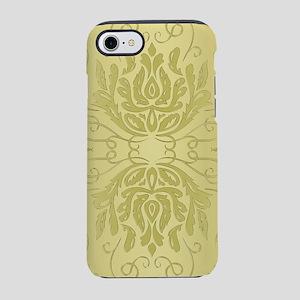 Elegant Gold Floral Damask iPhone 8/7 Tough Case