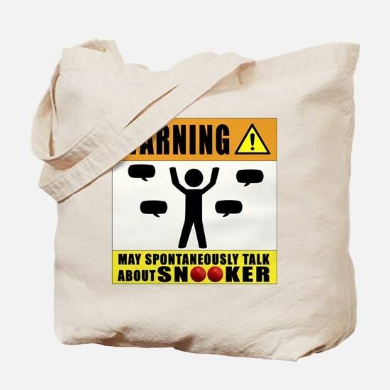 May Spontaneously Talk About Snooker Tote Bag