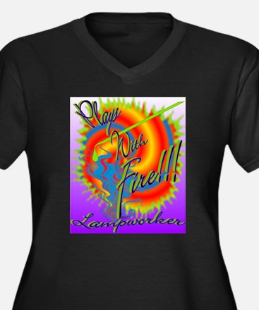 Art PLAYS W FIRE 600pix Plus Size T-Shirt