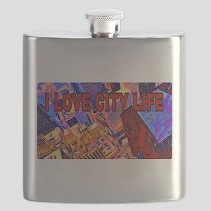 I LOVE CITY LIFE Flask