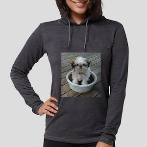 Shih Tzu Puppy in Bowl Long Sleeve T-Shirt