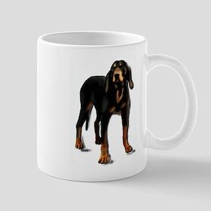 black and tan hound Large Mugs