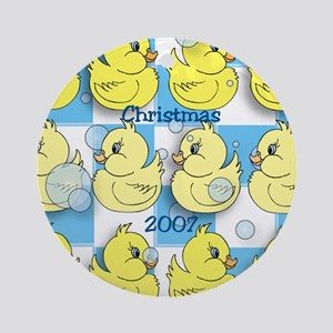 Rubber Ducky Holiday Christmas Ornament