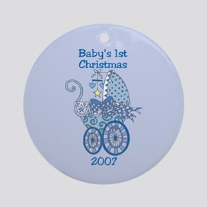 Baby Boy Baby's First Christmas Ornament