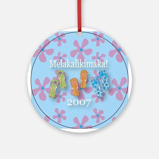 Melakalikimaka Flip Flops Christmas Ornament 2007
