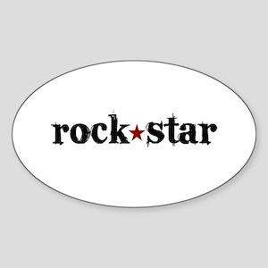 Rock Star Oval Sticker