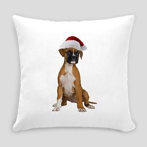 Santa Boxer Everyday Pillow