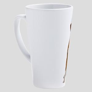 Santa Boxer 17 oz Latte Mug