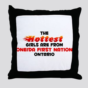 Hot Girls: Oneida First, ON Throw Pillow