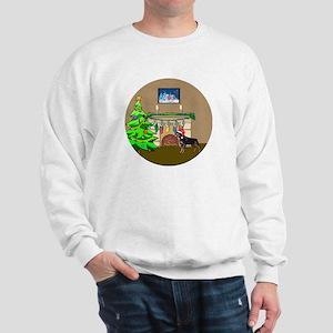 Santa Rottweiler Christmas Sweatshirt