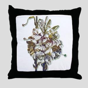 Bronzed Lilies Throw Pillow