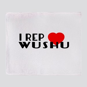 I Rep Wushu Sports Designs Throw Blanket