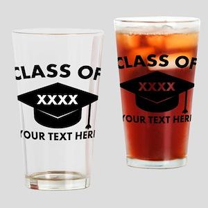 Class of XXXX Personalized Drinking Glass