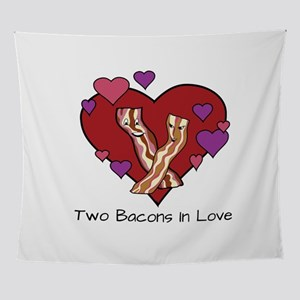 Two Bacons In Love Wall Tapestry