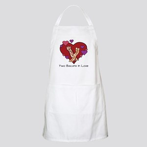 Two Bacons In Love Light Apron