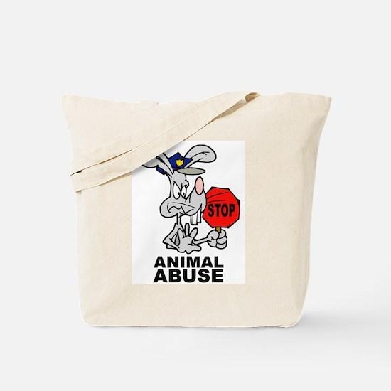 Stop Animal Abuse Tote Bag