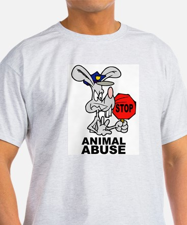Stop Animal Abuse Ash Grey T-Shirt