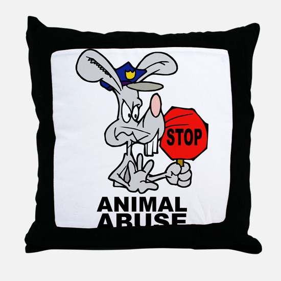 Stop Animal Abuse Throw Pillow