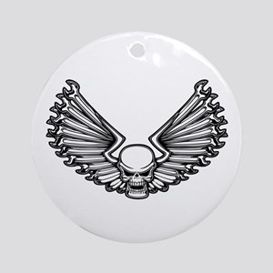 Wrench-Feather 1 Ornament (Round)