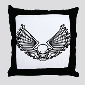 Wrench-Feather 1 Throw Pillow