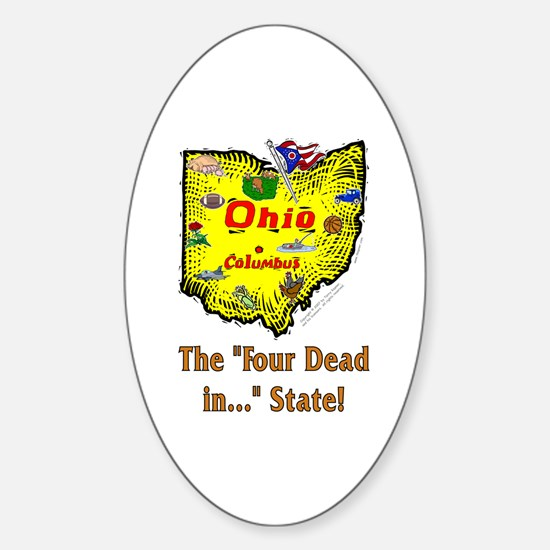 OH-Dead! Oval Decal