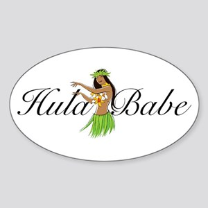 Hula Babe Oval Sticker