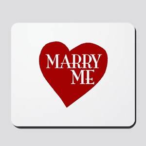 Marry Me Valentine's Day Mousepad