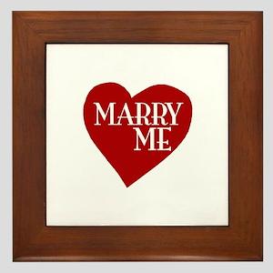 Marry Me Valentine's Day Framed Tile