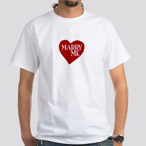 Marry Me Valentine's Day White T-Shirt