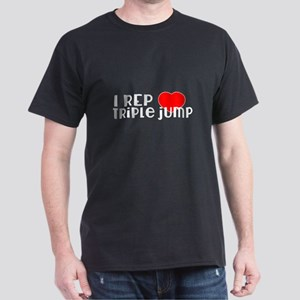I Rep Triple jump Sports Designs Dark T-Shirt
