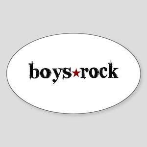Boys Rock Oval Sticker