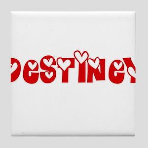 Destiney Love Design Tile Coaster