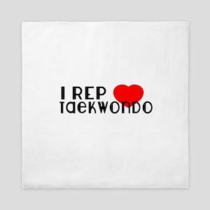 I Rep Taekwondo Sports Designs Queen Duvet