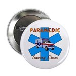 "Paramedic Saving Lives 2.25"" Button (100 pack"