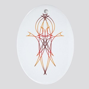 Stripe 1 Oval Ornament