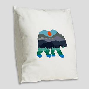 BEAR Burlap Throw Pillow