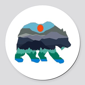 BEAR Round Car Magnet