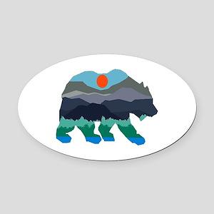 BEAR Oval Car Magnet